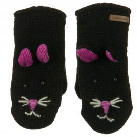 Child Animal Wool Mitten-Kitty Face