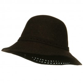 Laser Cut Brim Wool Felt Hat