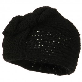 Button Closure Wide Knit Head Band