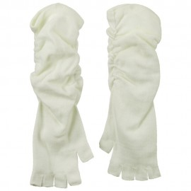 Fingerless Long Glove - White