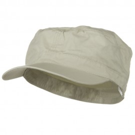 Big Size Fitted Cotton Ripstop Military Army Cap - Stone