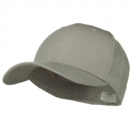 Extra Size Fitted Cotton Blend Cap - Light Grey