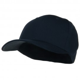Extra Size Fitted Cotton Blend Cap - Navy