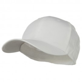 Extra Size Fitted Cotton Blend Cap - White