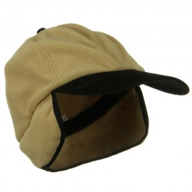 Oversize Fleece Warmer Flap Cap - Camel