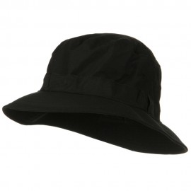 Water Repellent Microfiber Golfer Hat - Black