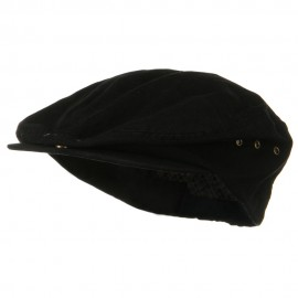 Oversize Washed Canvas Ivy Cap - Black
