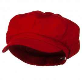 Big Size Cotton Newsboy Hat - Red