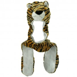 SW Long Mitten Animal Hat - Tiger