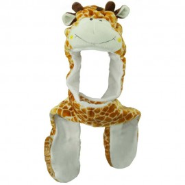SW Long Mitten Animal Hat - Giraffe