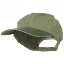 New Big Size Washed Cotton Ball Cap - Khaki Olive