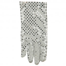 Right Hand Sequin Glove - Silver
