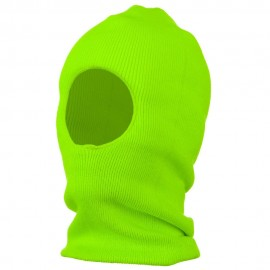 One Hole Thinsulate Face Mask - Neon Green