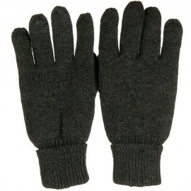 Suede Leather Palm Wool Glove - Charcoal Grey