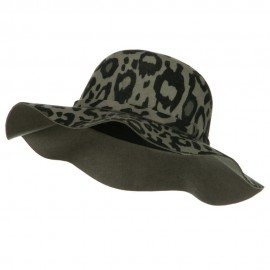Animal Print Wool Felt Hat