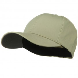 Structured Brushed Twill Flexible Big Size Cap - Khaki