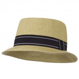 Tweed Porkpie Hat - Tan