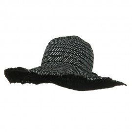 Ribbon Short Brim Self Tie Hat