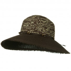 UPF 50+ Wide Brim Fringe Edge Self Tie Hat