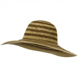 Raffia Straw Stripe Two Tone Hat