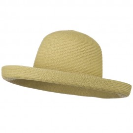 Sewn Braid Kettle Brim Self Tie Hat - Tan