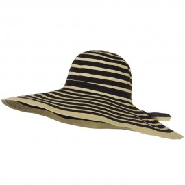Ribbon 7 Inch Brim Bendable Wire Brim Hat