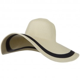 Solid Peak Ladies Wide Brim Toyo Hat - Natural Black