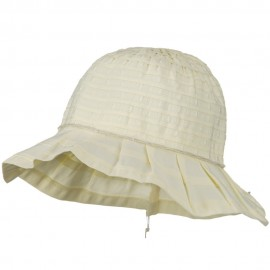 Woman's Ribbon Short Brim Self Tie Hat