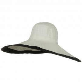 Ribbon 8 Inch Wide Brim Edge Self Tie Hat