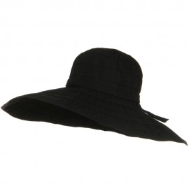 Packable and Crushable Ribbon 6 Inch Brim Hat