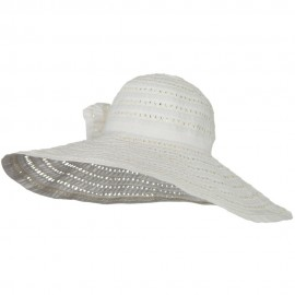 Ribbon Toyo Braid Wide Brim Flower Self Tie Hat