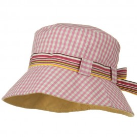 Girl's Checkered Floppy Hat