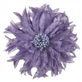 Silk Flower Point Leave Pin and Clip