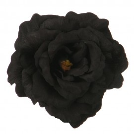 Rose King Size Pin and Clip - Black