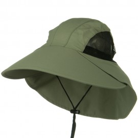 UV Large Bill Flap Cap - Olive