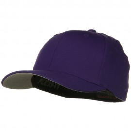 Wooly Combed Twill Flexfit Cap-Purple