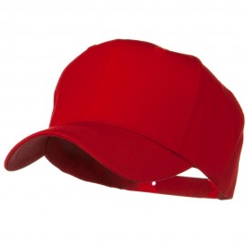 Solid Cotton Twill Pro Style Cap - Red