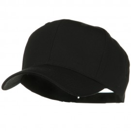 Solid Cotton Twill Pro Style Cap - Black