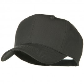 Solid Cotton Twill Pro Style Cap - Charcoal Grey