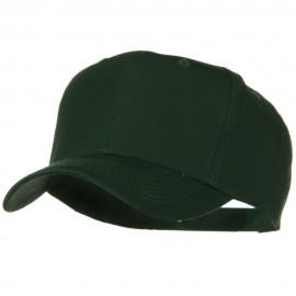 Solid Cotton Twill Pro Style Cap - Dark Green