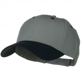 Two Tone Cotton Twill Low Profile Strap Cap - Navy Grey