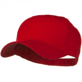 Solid Cotton Twill Low Profile Strap Cap - Red