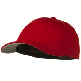 Flexfit Youth Wooly Combed Twill Cap - Red