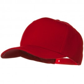 Solid Wool Blend Prostyle Snapback Cap - Red