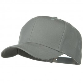Solid Wool Blend Prostyle Snapback Cap - Grey