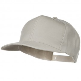 Solid Wool Blend Prostyle Snapback Cap - Stone Grey