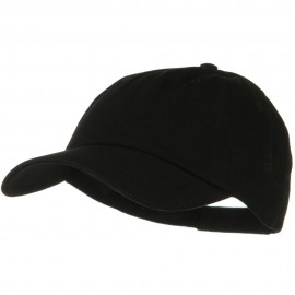 Solid Brushed Cotton Twill Low Profile Cap - Black