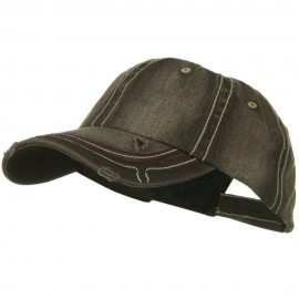 Low Profile Heavy Wash New Herringbone Distressed Cap - Brown