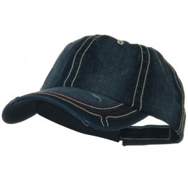Low Profile Heavy Wash New Herringbone Distressed Cap - Navy