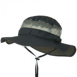 UV 50+ Side Mesh Talson Bucket Hat - Charcoal